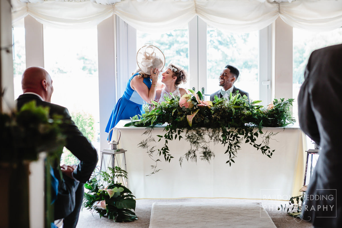 Congratulating newlyweds