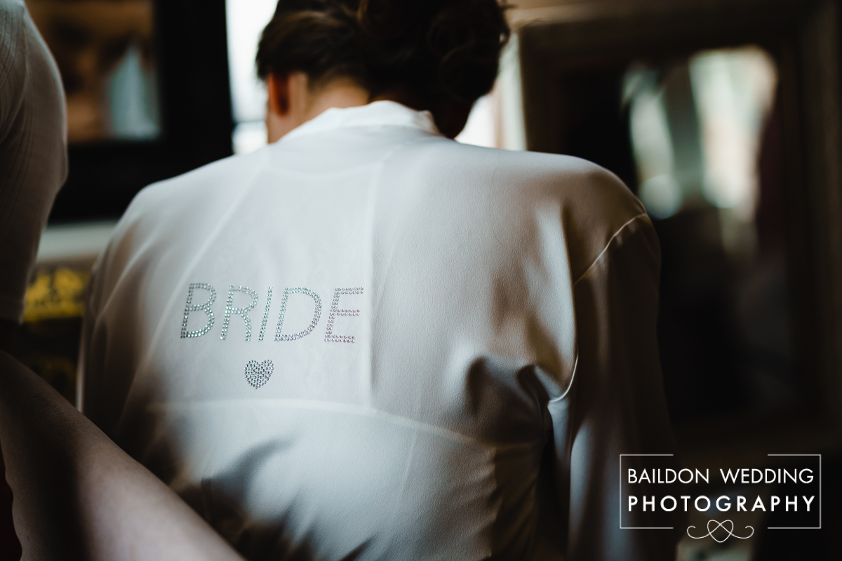 Personalised bridal dressing gown