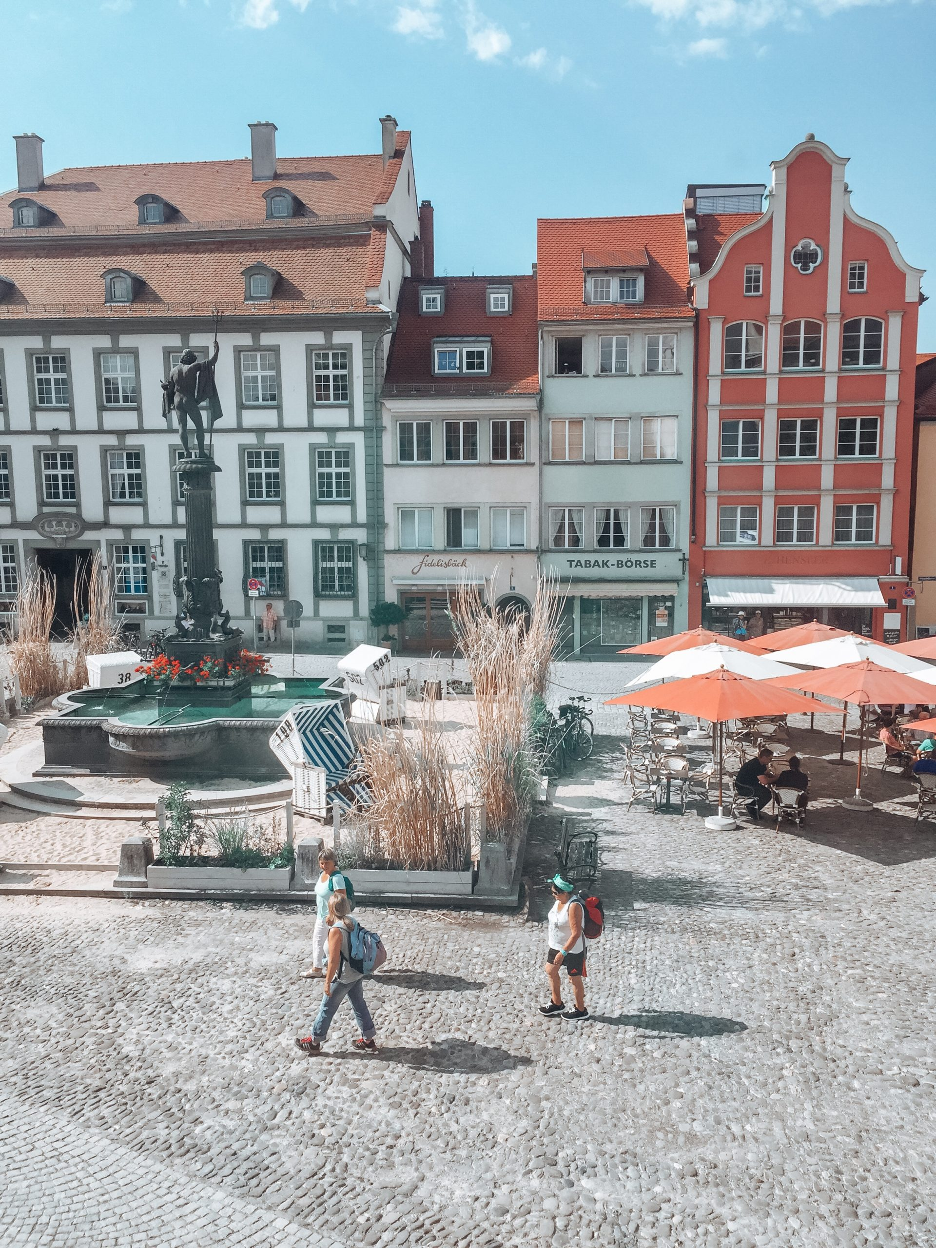 Lindau town square with fountain