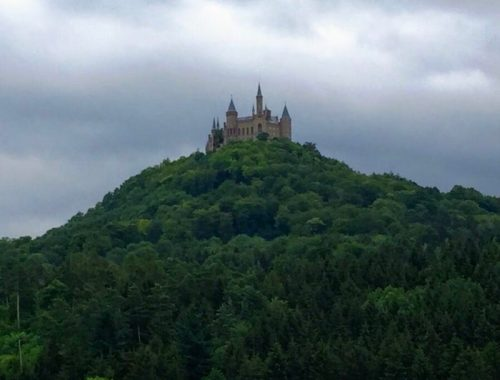 Burg Hohenzollern sits atop Berg Hohenzollern in the Swabian Alps