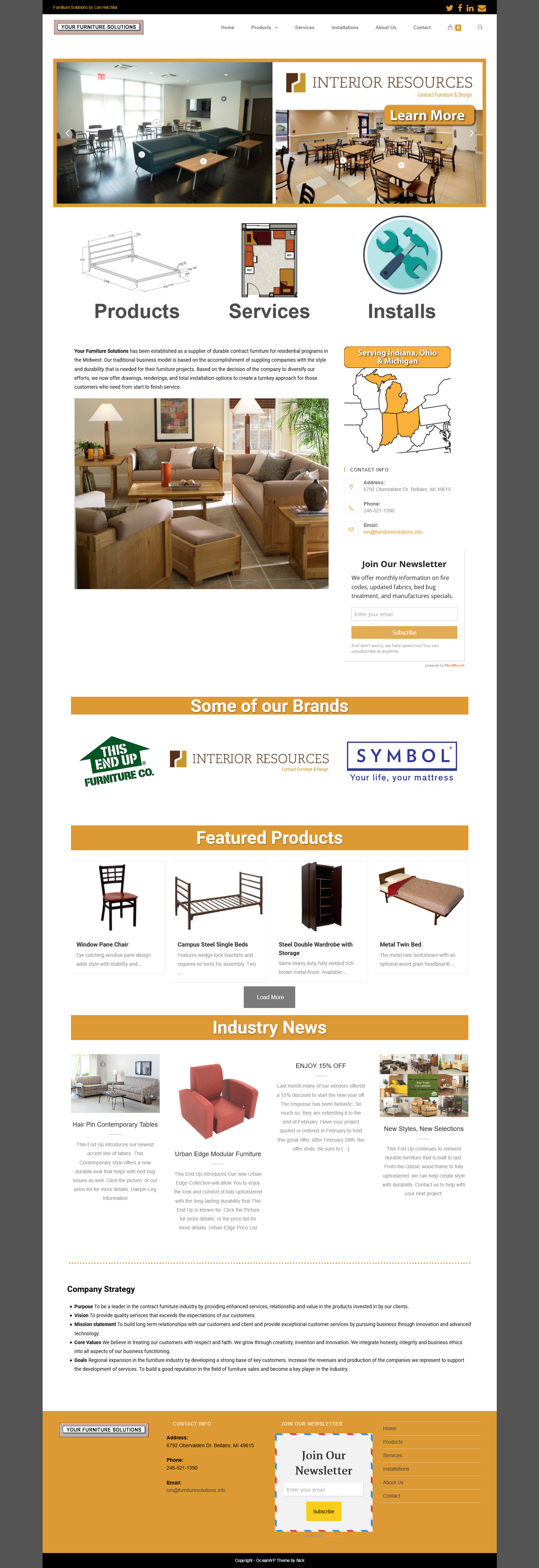 Your Furniture Solutions – Website