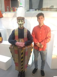 "Myself (in the costume) and my ""stylist"" Luke"