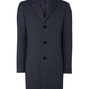 Remus Uomo wool overcoat navy