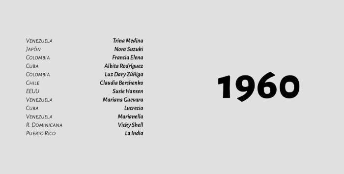 Mujeres Artistas en Salsa - Década de los 60s - 1960