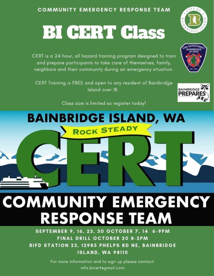 Bainbridge Island CERT – Bainbridge Prepares
