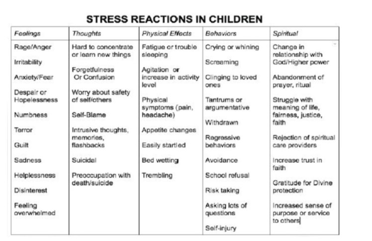 Stress Reactions in Children