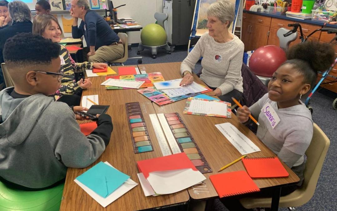 Allen seniors, children bond through letters