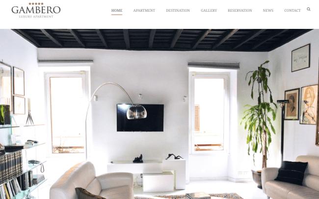 Gambero Luxury web design