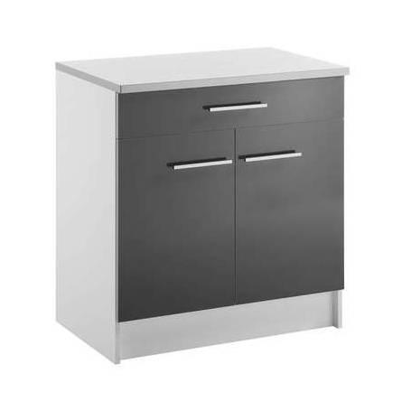 meuble bas cuisine 2 portes 1 tiroir