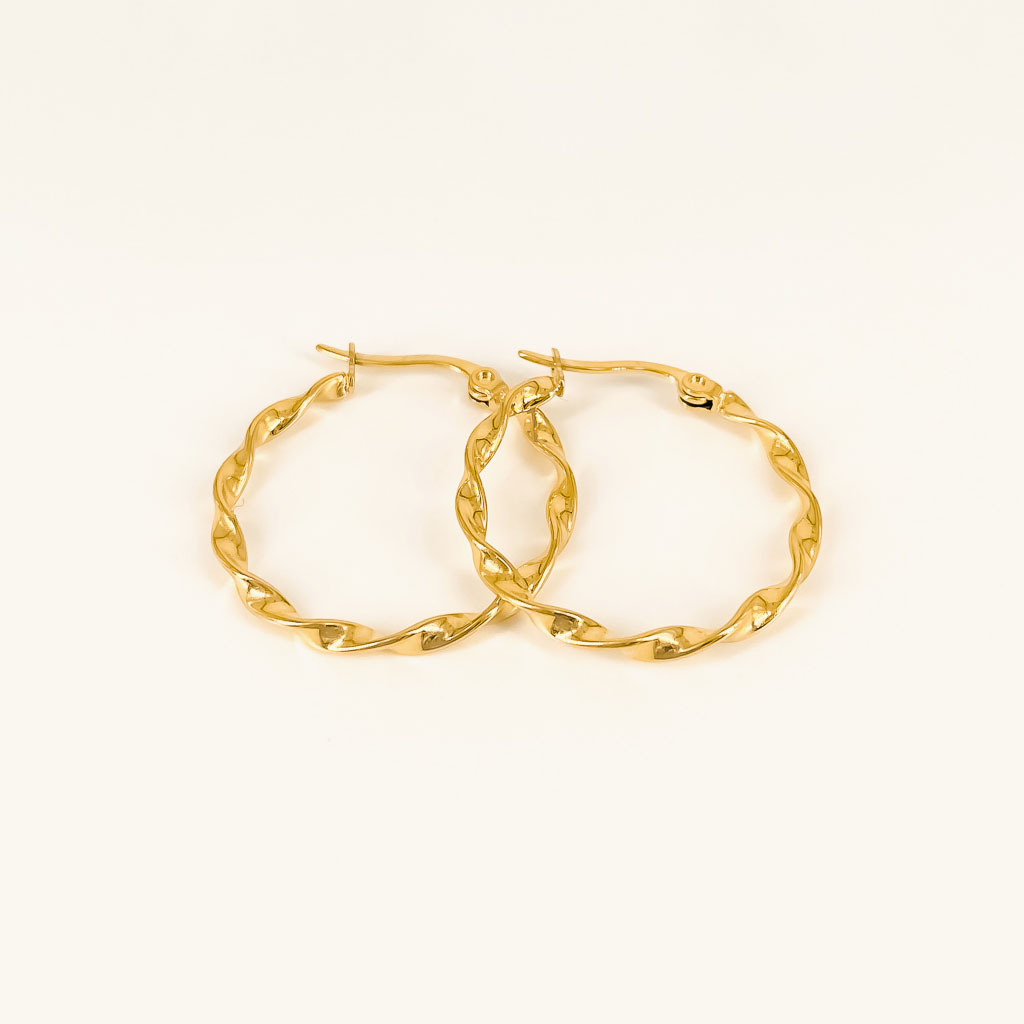 Elsa hoops waterproof gold plates earrings