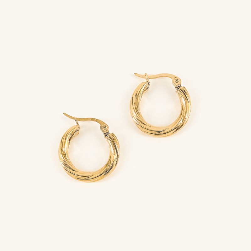Gold plated twisted Mara hoops earrings jewelry