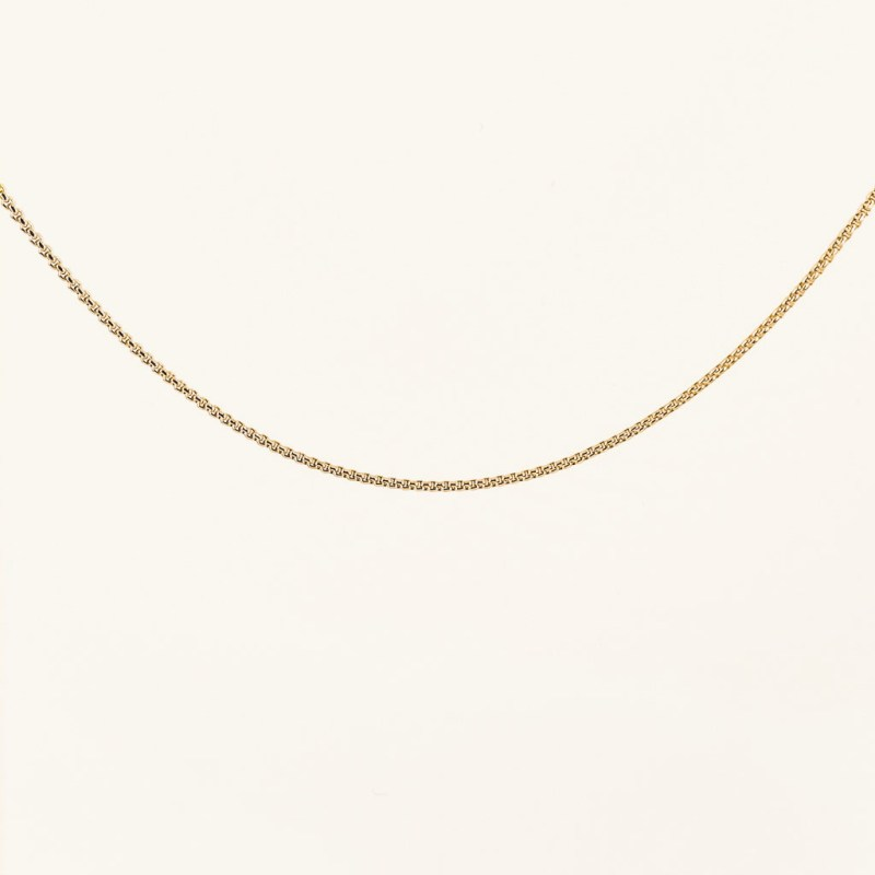 Gold plated chain necklace waterproof jewelry