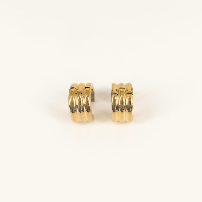 Ellie hoops gold plated waterproof earrings