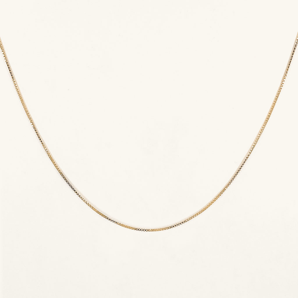 Bobby chain necklace gold plated jewelry