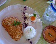 Parrot Fish in Coconut Breading with Spicy Sauce