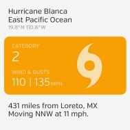 Hurricane Blanca Notification