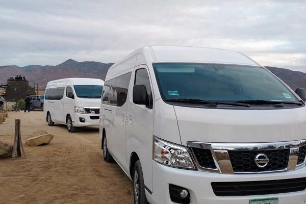 13 passenger van transportation shuttle in Baja California