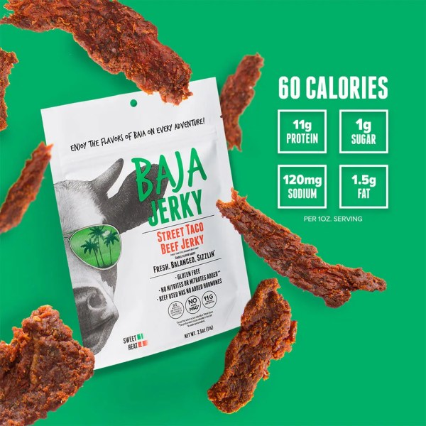 Baja Jerky Street Taco Caloric Info