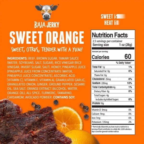 Sweet Orange jerky nutrition