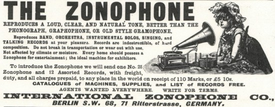 International Zonophone Co., Advertisement, The Zonophone