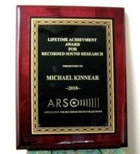 Lifetime Achievement Award - ARSC - Michael Kinnear, 2018
