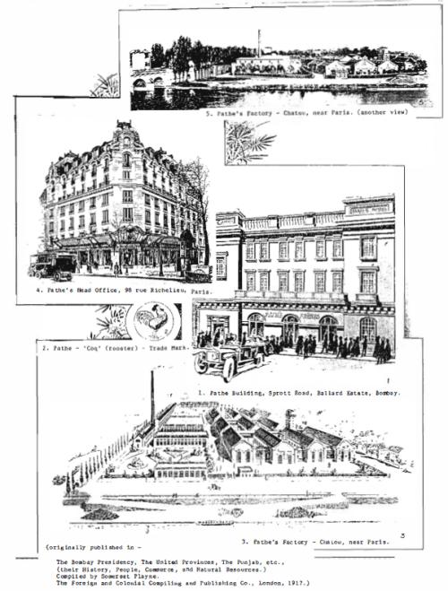 Pathe Freres Ltd, - The Bombay Presidency, 1917
