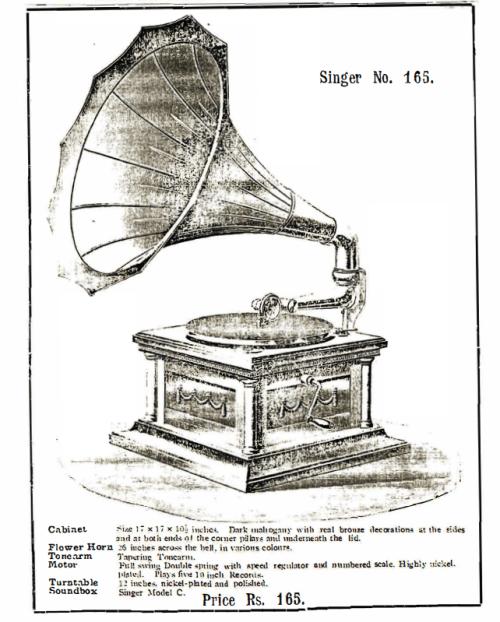 Singer Talking Machine, Singer No. 165