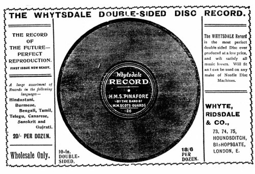 Whytsdale Record, Advertisement