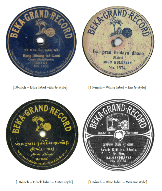Beka Grand Record - 10 inch, The 78rpm Record Labels of India