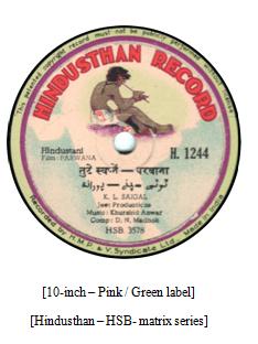 Hindusthan Record, K.L. Saigal, H. 1244