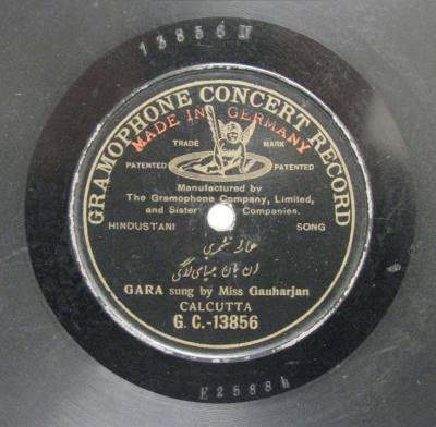 Gramophone Concert Record, Miss Gauhar Jan, GC-13856
