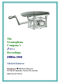 The Gramophone Company's Indian Recordings, 1908 to1910