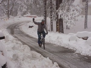 Ken Ice biking.