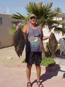 Ken with two keeper halibut