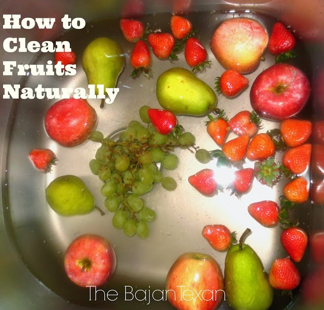 How to Clean Fruits and Veggies Naturally -  The way I clean fruit is both simple and natural, thanks to one MAGICAL item!
