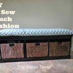 No Sew Bench Seat Cushion