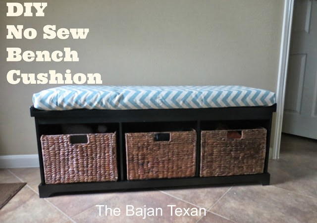 No Sew Bench or Window Seat Cushion