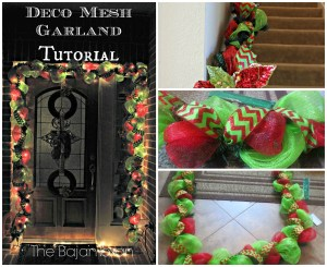 how to make deco mesh garland