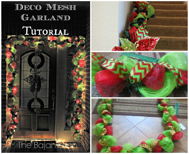 DIY Holiday Garland Using Deco Mesh (Holiday Decor Series) - Make your own stunning Christmas garland with this quick tutorial!