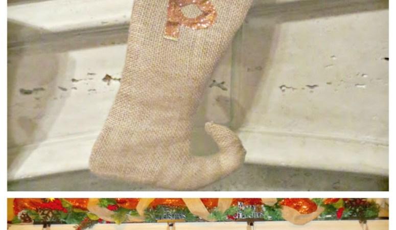 DIY Burlap Elf Stockings (Holiday Decor Series 3)