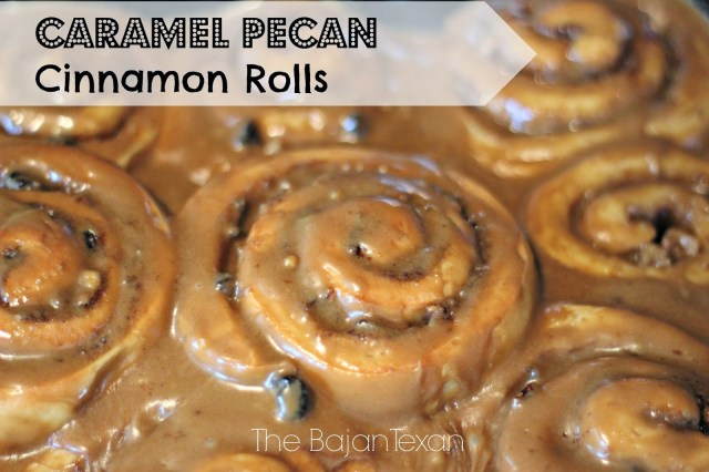 Caramel Pecan Cinnamon Roll Recipe - The husband's all- time favorite! These cinnamon rolls are so rich and delectable they are so worth the calories!