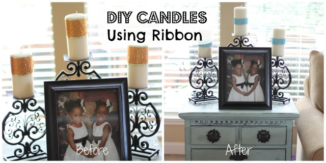 Decorate Candles With Ribbons - Ribbons are so versatile and can give you different styles depending on the type of ribbon you use.
