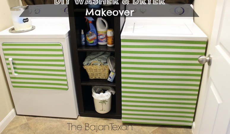 DIY Washer Makeover + Dryer (Laundry Room Makeover Series 1)