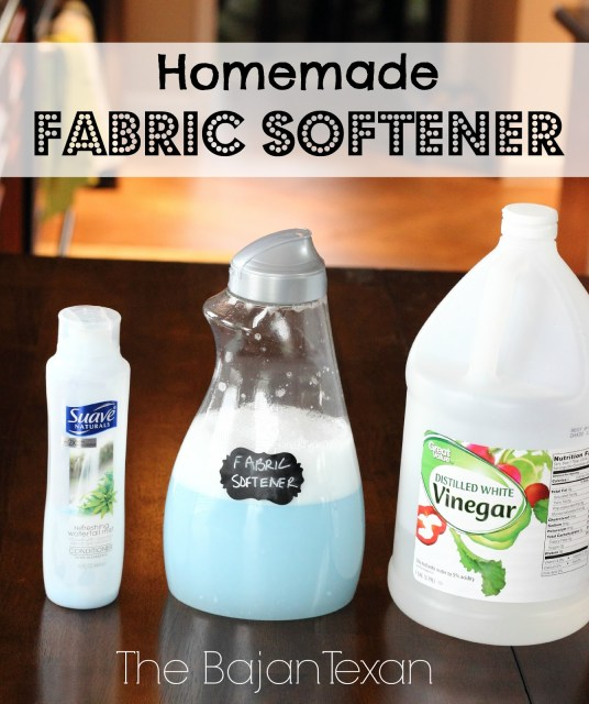 DIY Fabric Softener - Make your own fabric conditioner with some usual items in your home. Also check out the DIY laundry detergent tutorial!