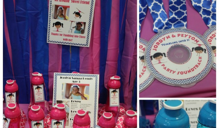 DIY Party Favors: CD Medals and Water Bottles