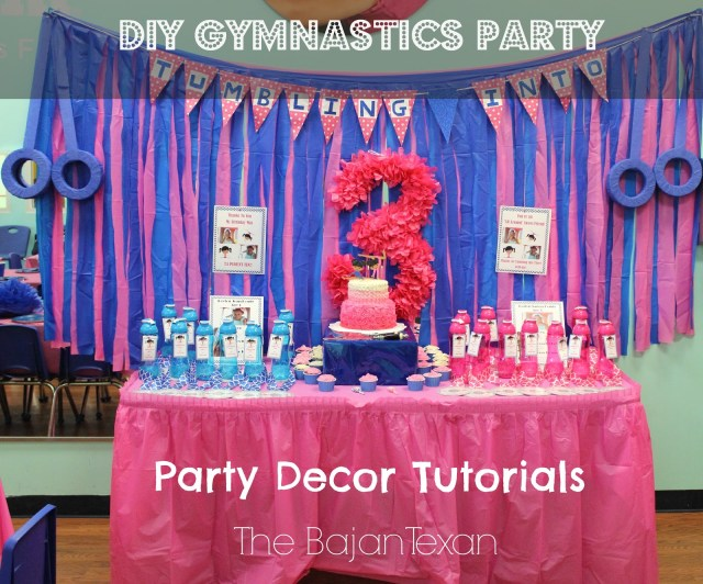 DIY Birthday Party at The Little Gym - Learn everything for creating your own gymnastics party from the theme, favors, decor, to the cake!
