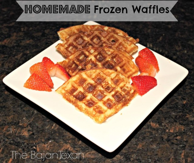 Frozen Waffles: Homemade Eggos - Make fast, easy breakfast for the whole family with DIY eggos!