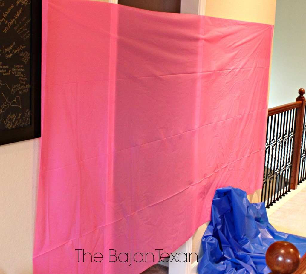 how to make a backdrop for a party table