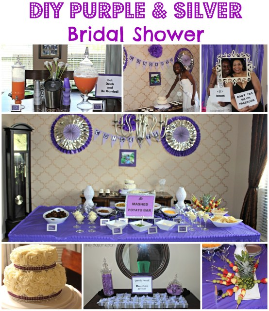 DIY Bridal Shower: Purple and Silver - Check out fun and easy DIY ideas for hosting and preparing your own or your friend's bridal shower!