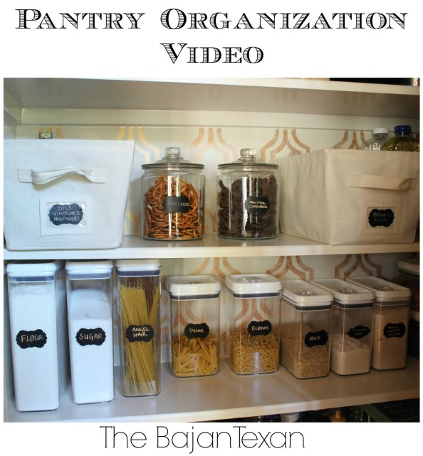 Pantry Organization Video - Check out great tips on how to organize a small pantry and how to maximize the space.